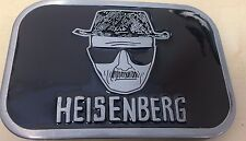 HEISENBERG BLACK SILVER BREAKING BAD WALT BELT BUCKLE - TAKES 4CM BELT