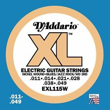 D'Addario EXL115W XL Nickel Wound electric guitar strings, Jazz (wound 3rd)