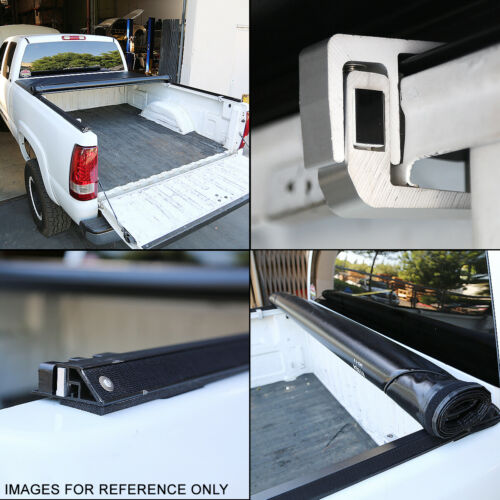 FOR 2005-2015 TOYOTA TACOMA FLEETSIDE 6FT SHORT BED SOFT ROLL-UP TONNEAU COVER
