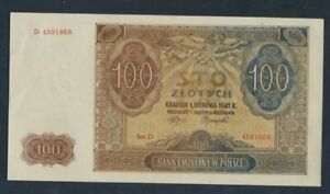 General-Rosenbg-583-slightly-used-II-1941-100-Zloty-8087452