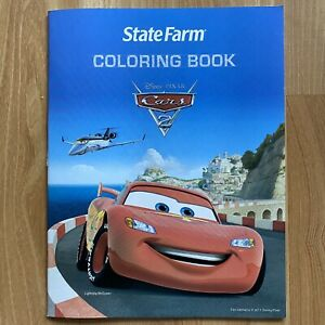 4 Disney Pixar Cars 2 State Farm Coloring Book 32 Pages New Ebay
