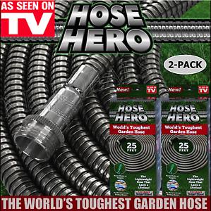 Original Metal Garden Water Hose Hero As Seen On Tv Smartsteel 25 39 2pk 50 39 Total Ebay
