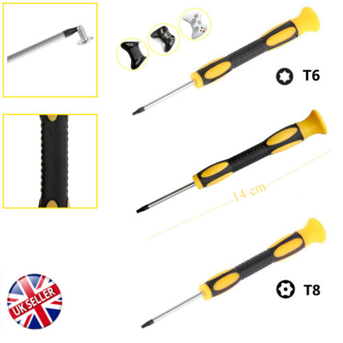 T6//8//10 Torx Star Magnetic Security Tamperproof Screwdriver Xbox One 360 PS3//4