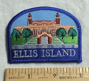 ELLIS ISLAND New York NYC Souvenir Embroidered Patch Badge