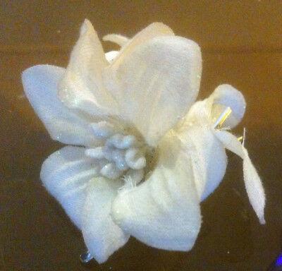 CLAIRE/'S Claire/'s accessoires coques officielles Head Pince à cheveux fleurs blanches £ 2.50 RRP