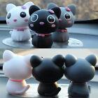 Black Interior Car Decor Cartoon Shaking Cat Car Accessory Omament Love Gift