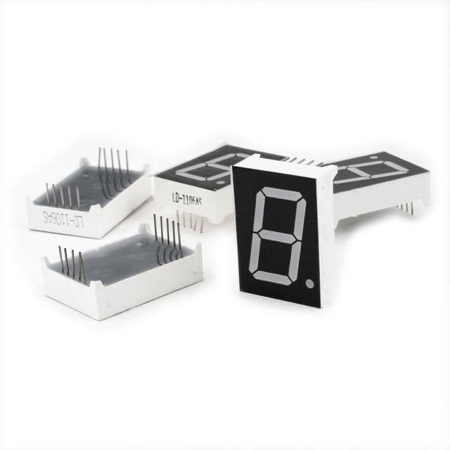 5 Pcs Common Cathode 10 Pin 1 Bit 7 Segment 1
