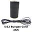 "25ft 5//32/"" Black Bungee Cord Marine Grade Heavy Duty Shock Rope Tie Down Stretch"