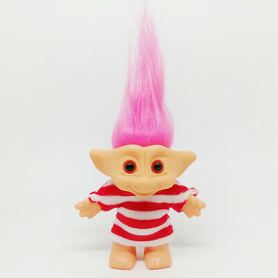 Delicate Lucky Troll Doll Mini Action Figures Toy Cake Decorations Colorful