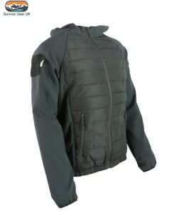 VENOM BLACK TACTICAL SPORTS FIT JACKET ZIP SOFT SHELL ARMS RIBBED BODY