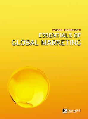 1 of 1 - Essentials of Global Marketing, Hollensen, Svend, Used; Good Book
