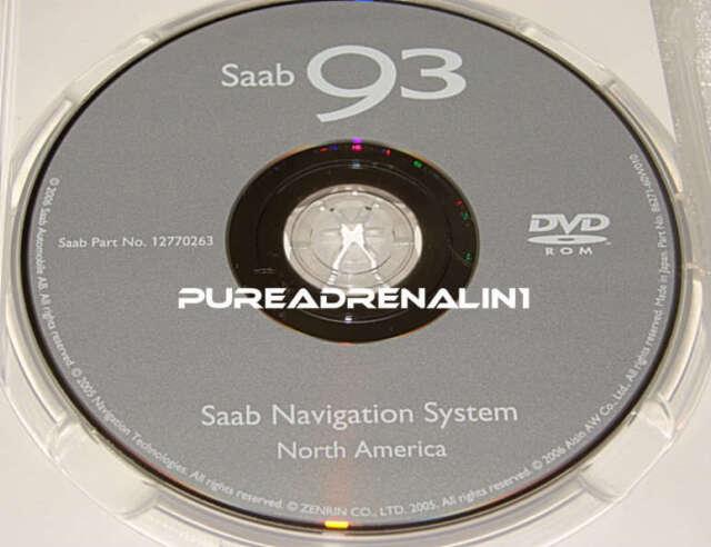 2006 SAAB 9-3 93 AERO SEDAN CONVERTIBLE NAVIGATION GPS MAP DISC CD DVD  12770263