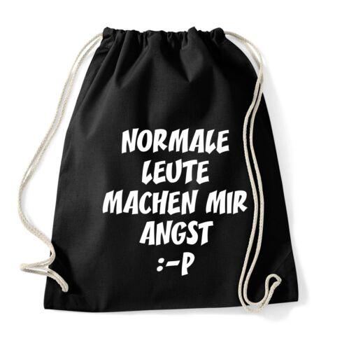 Normale Leute machen mir ... Turnbeutel Rucksack Sportbeutel Jute Beutel Tasche