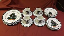 set of 4-5 piece place setting christmas tree dinnerware totally today 20 pieces