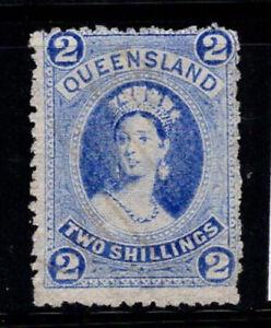 Queensland 1872 timbrato 80% 2 SH, Regina Vittoria