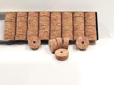 "Cork Rings 12 River Burl # 2 1 1//4/"" x 1//2/"" x 1//4/"" Hole"