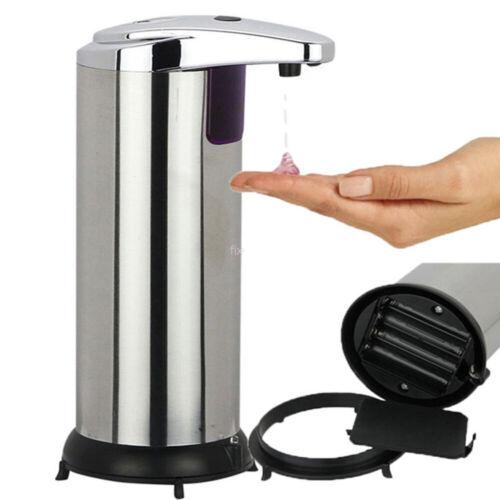 Seifenspender Automatisch Edelstahl Sensor Seifendosierer Infrarot für Küche Bad