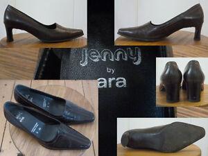 Details zu Jenny by ara Schuhe Pumps Damen 5,5cm Blockabsatz Leder Schwarz 4½ 37 1A