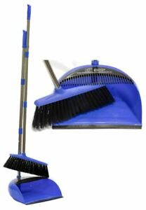 Manico-lungo-SCOPA-E-Brush-Set-da-cucina-Soft-spazzare-scopa-BLU-POLVERE-PAN
