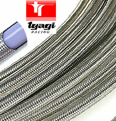 Stainless Overbraided TEFLON PTFE Fuel Pipe Hose Car Van Petrol  ANY SIZE 1Mtr