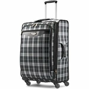 0c7a9591fe Image is loading American-Tourister-Plaid-Fashion-25-Inch-Spinner-Upright-