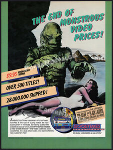 CREATURE FROM THE BLACK LAGOON__Orig. 1988 Trade Print AD / vid. promo / poster