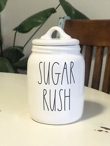 Rae-Dunn-By-Magenta-Artisan-SUGAR-RUSH-Baby-Canister-Large-Letter-LL-7-034-NEW-Rare
