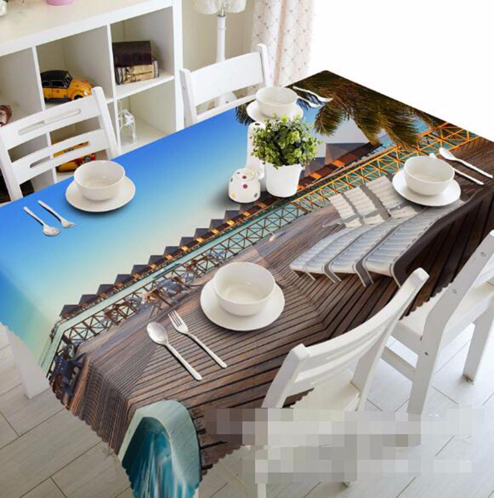 3D Terrace Tablecloth Table Cover Cloth Birthday Party AJ WALLPAPER UK Lemon