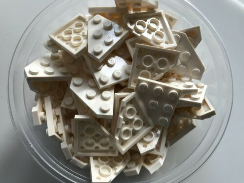 WEDGE PLATE 3 X 3 CUT CORNER 25 PIECES LEGO PARTS-NEW--#2450-WHITE
