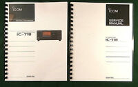 Icom Ic-718 Instruction & Service Manuals: Card Stock Covers & 32 Lb Paper