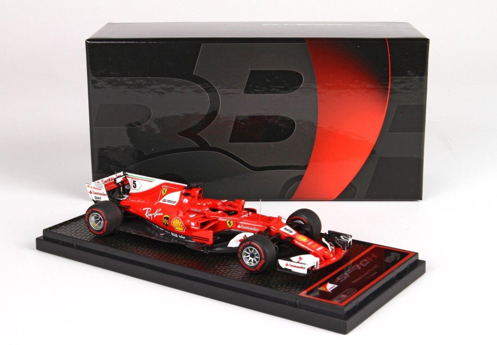 Ferrari SF70 H GP Montecarlo 2017 winner S Vettel 1 43 lim.ed.450 BBRC201A