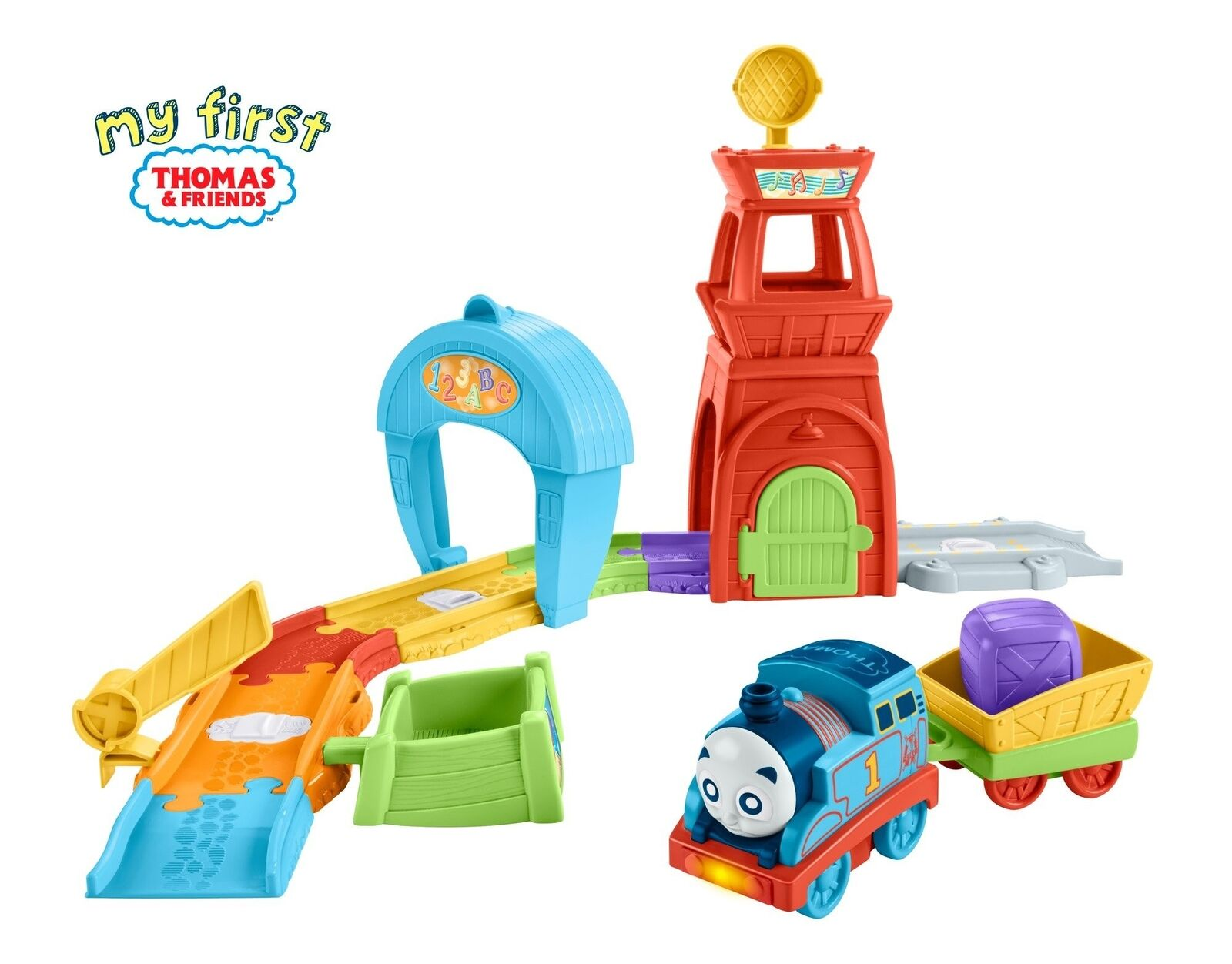 Thomas & Friends FKC81 Railway Pals Rescue Tower Set Thomas the Tank Engine ...