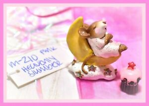 ❤️Wee Forest Folk M-210 Heavenly Slumber Pink Sleeper Moon Retired Mouse WFF❤️