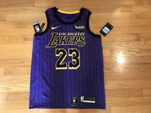 8949378791f Lebron James  23 City Edition Nike Lakers Swingman Jersey Men s ...