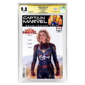Brie Larson Autographed Captain Marvel #2 CGC SS 9.8