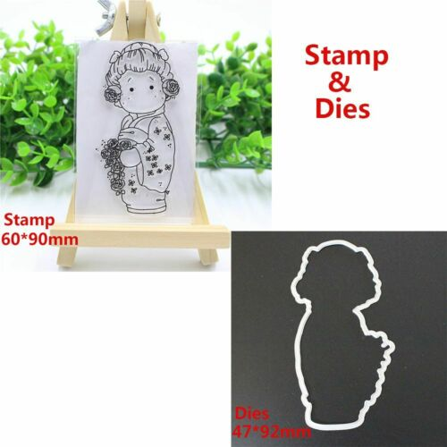 Album Decorative Cutting Dies Stencils Girl Clear Stamps Embossing Scrapbooking