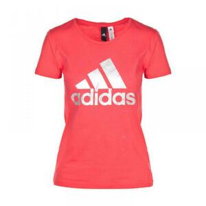 Detalles acerca de Adidas BP8400 majica Lámina logotipo Camiseta para mujer todas las Algodón Jersey Camisa De Deportes Rosa mostrar título original