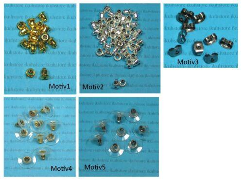 Lápiz pendientes plata topes de acero inoxidable kunsstoffscheibe joyas ohrmutter