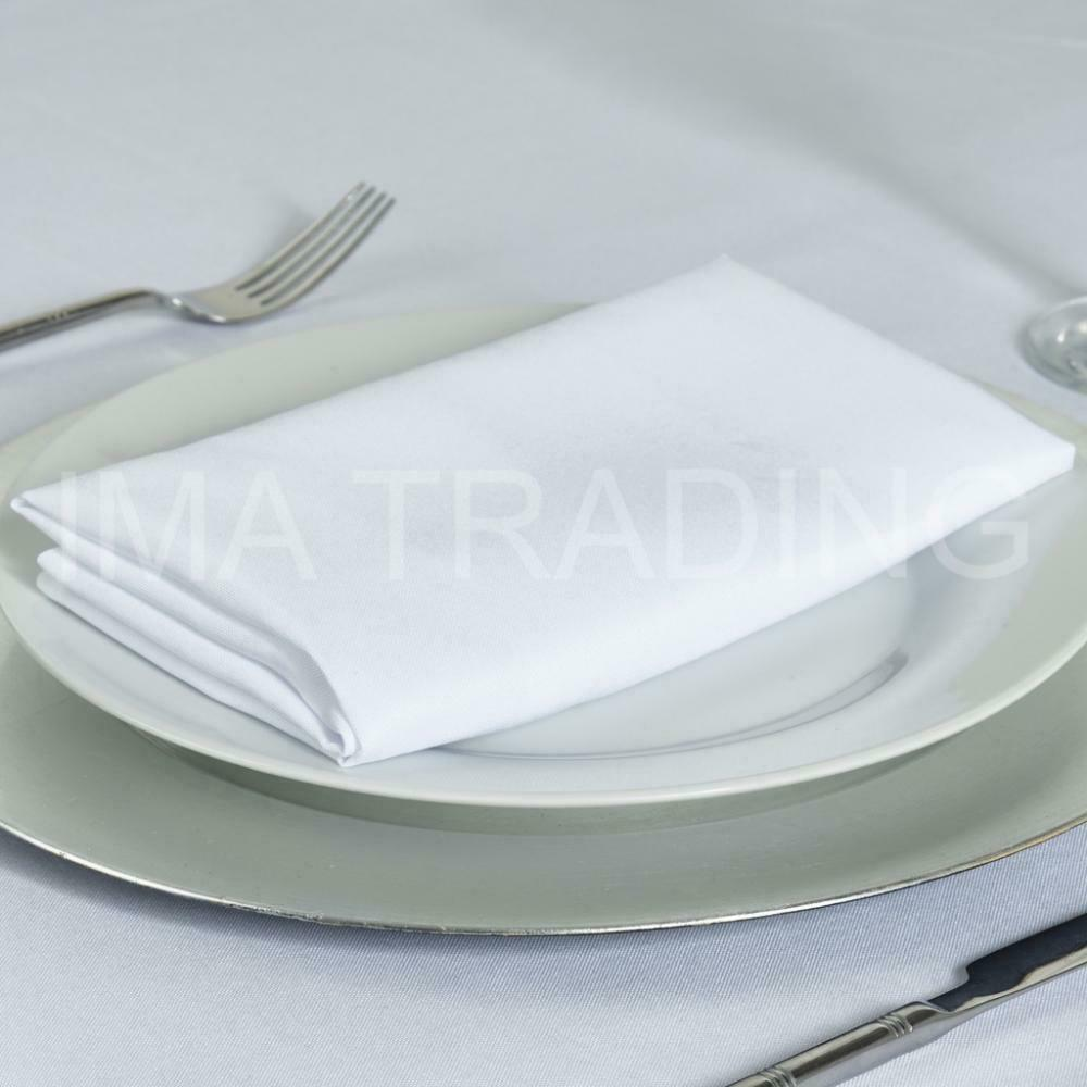 WHITE TABLECLOTH 178cm x 275cm, 70  x 108  Inch, 220GSM POLYESTER TABLE CLOTH