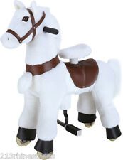 SMALL 'Giddy Up Ride' Horse/Pony Ride WHITE 2-5 Boys & Girl (01C) - REFURBISHED