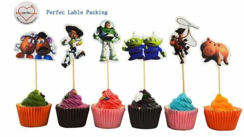 Toy Story Themed Decorative Cupcake Toppers Party Pack for 24 Cupcakes