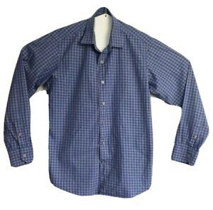 Ganton Men's Sport City Pure Cotton Long Sleeve Check Shirt Size M