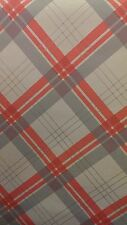 252701 Fairburn by Arthouse Coral Taupe Tartan Check Vintage Wallpaper