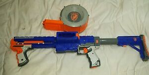 Nerf N-Strike Raider CS-35 Blaster & 35 Drum Clip Dart Gun & Shoulder Stock