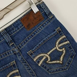 BIG-STAR-Casey-Low-Rise-Fit-Skinny-Slim-Dark-Wash-Blue-Jeans-Sz-24-26-x-31