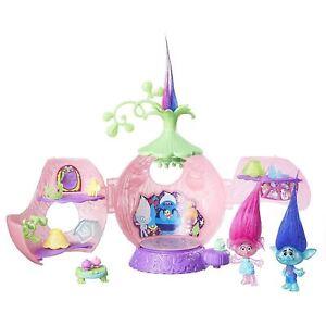 Les-Trolls-Dreamworks-Poppy-039-s-Couronnement-Pod-Set-De-Jeux-Lumineux-Danse-Sol