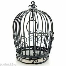 Black Wire Birdcage Bird's Cage Open Door New Doll's House Dollhouse Miniature