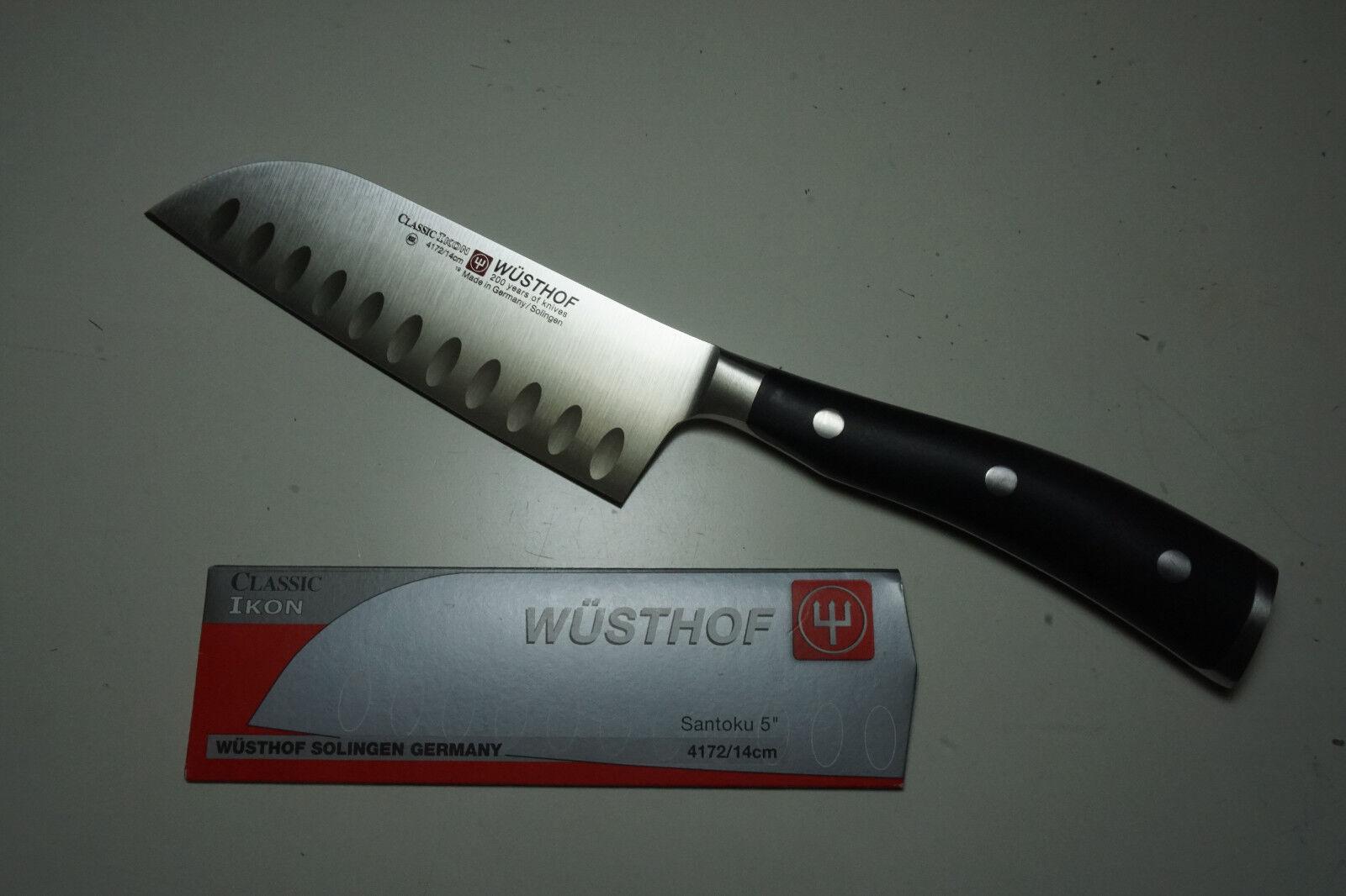 Wusthof 4172-7 Classic Ikon 5-inch Santoku creux EDGE Couteau (Dec09-d)
