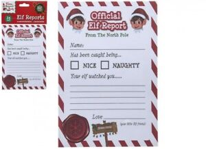 e47dd5052 Official Elf Report - Christmas Naughty Or Nice List - A5 Card Pack ...