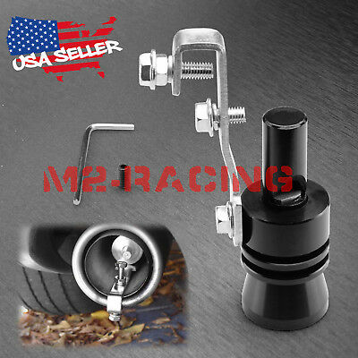 Black Universal Racing Turbo Sound Blow off Valve Simulator Exhaust Whistler XL
